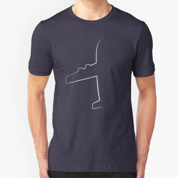 Aviation  airplane pilot shirt Slim Fit T-Shirt