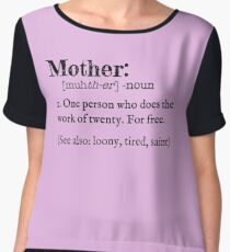 Mother Dictionary Definition Chiffon Top