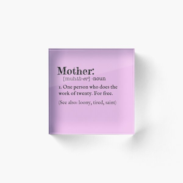 Mother Dictionary Definition Acrylic Block