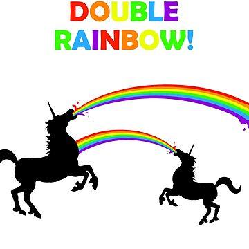 Doppelter Regenbogen Unicorn Vomit von jezkemp