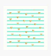Mint heart  Art Print