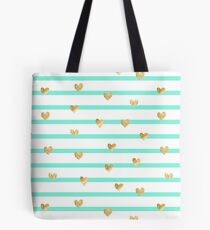 Mint heart  Tote Bag