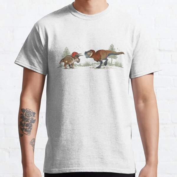 Double feature; Triceratops and Tyrannosaurus rex Classic T-Shirt