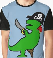 Pirate Dinosaur - T-Rex Graphic T-Shirt