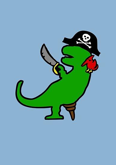 Pirate Dinosaur - T-Rex by jezkemp