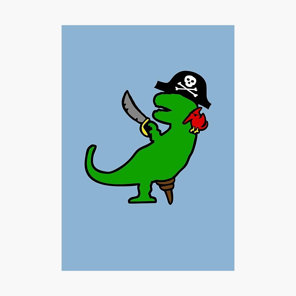 Dinosaurio Pirata - T-Rex Lámina fotográfica