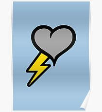 Thunder Heart (weather symbol) Poster