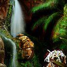 Tropical Waterfall by BethBernier