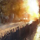 late afternoon tram by Nikolay Semyonov