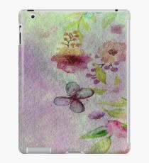 Watercolor Flower Border 2 iPad Case/Skin