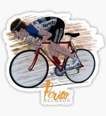 """Perico Delgado """"Le fou des Pyrénées"""" Sticker"""