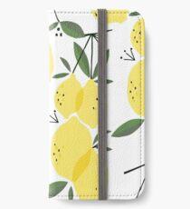 Refreshing Lemon Pattern #2 iPhone Wallet/Case/Skin