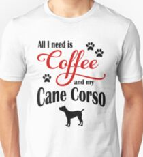 Coffee and my Cane Corso Unisex T-Shirt