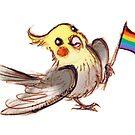 Pride Birb by alulawings