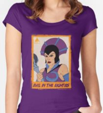 EVIL IN THE EIGHTIES: Evil-Lyn Women's Fitted Scoop T-Shirt
