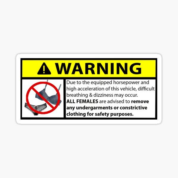 Pferdestärken Warnung Sticker