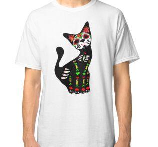 Vestidos camiseta «Gato Calavera Mexicana» de Pintarrajearte  a02f25c5e94