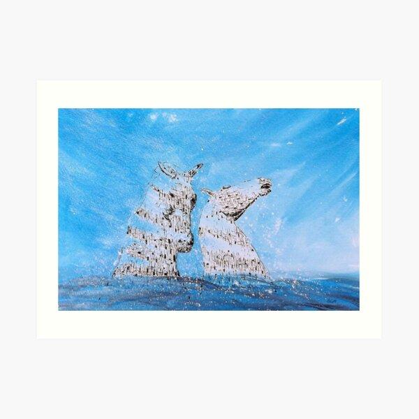 K2, the Water Kelpies Art Print
