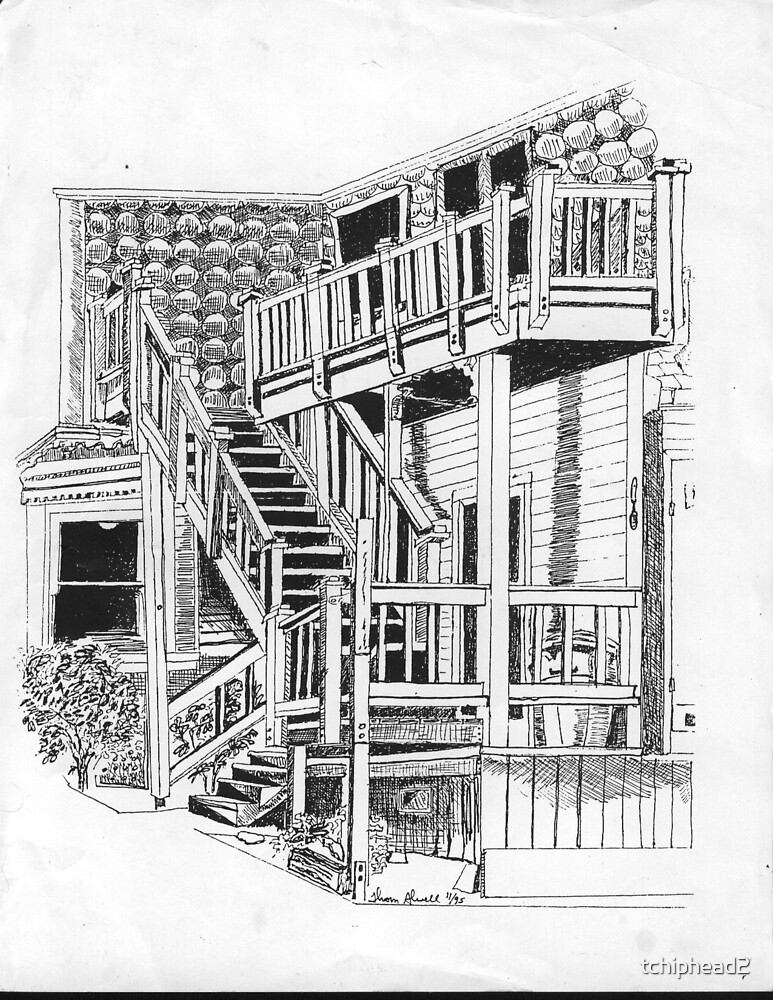 My Back Stairs by tchiphead2