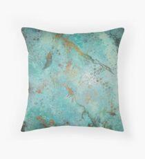 Copper Patina Throw Pillow