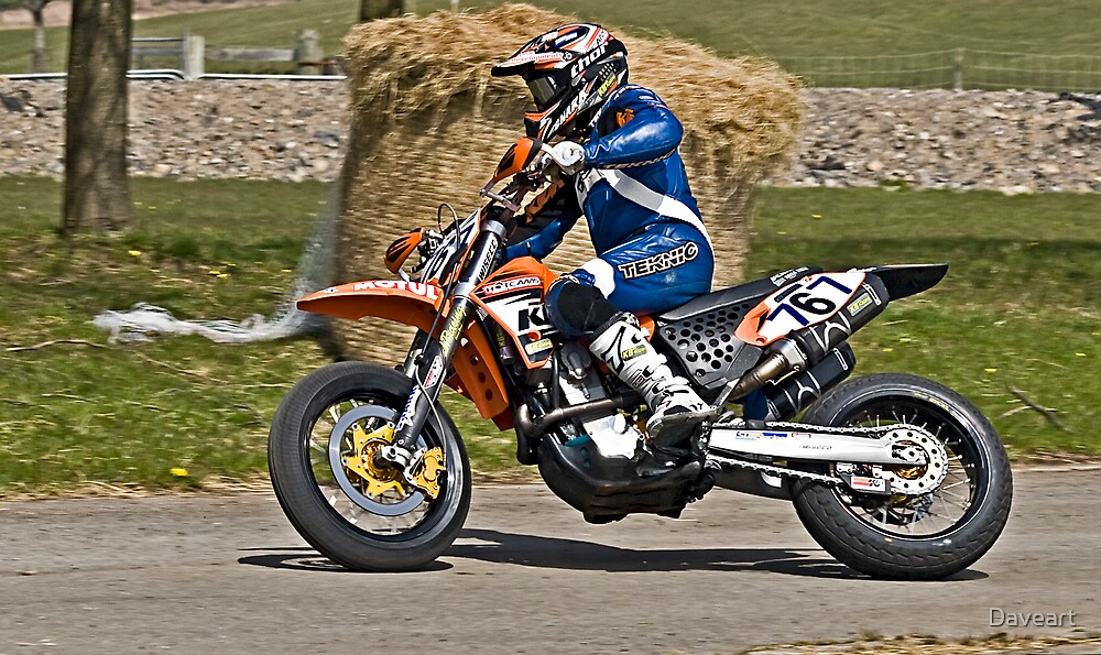 Moto GP racing Margam hill by Daveart