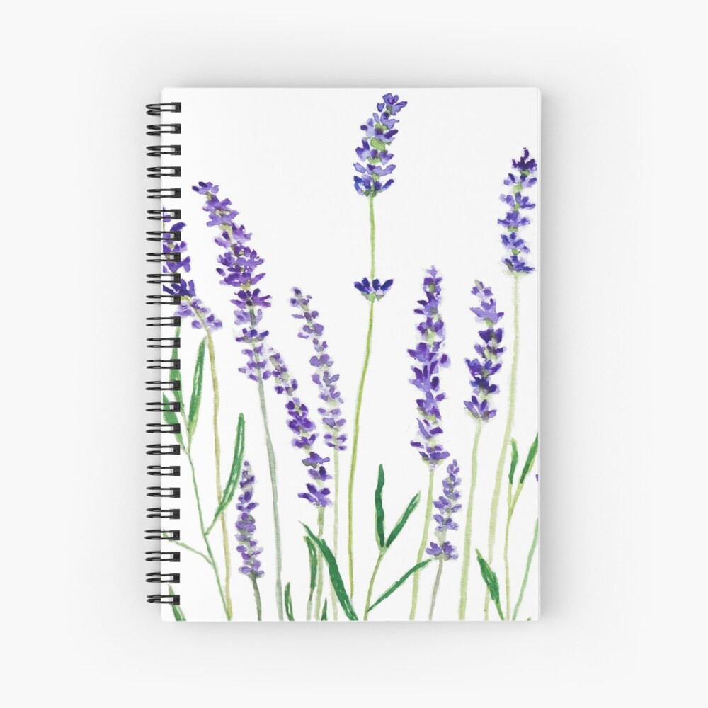 purple lavender  Spiral Notebook