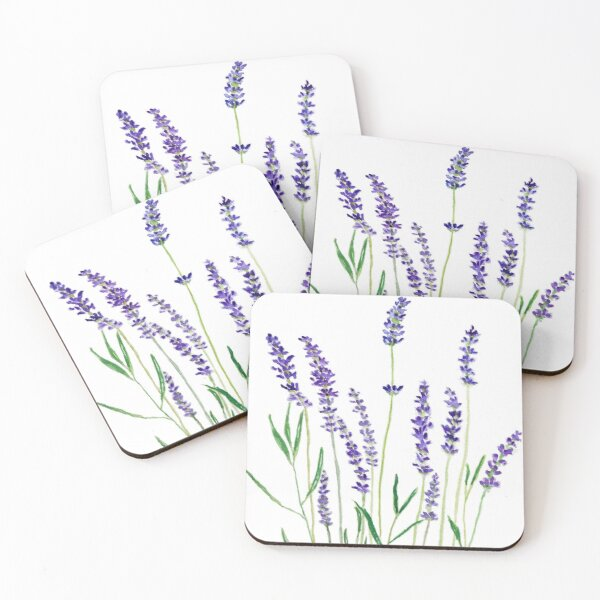 purple lavender  Coasters (Set of 4)
