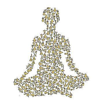 Creative Yoga T-Shirts - Yoga Poses by SABRA11
