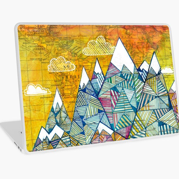 Maps and Mountains Laptop Skin