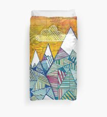 Maps and Mountains Duvet Cover