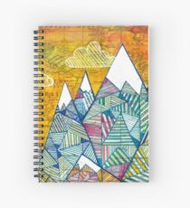 Maps and Mountains Spiral Notebook