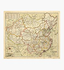 Map of China (circa 1900) Photographic Print