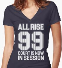 Aaron Judge - NY Yankees Women's Fitted V-Neck T-Shirt
