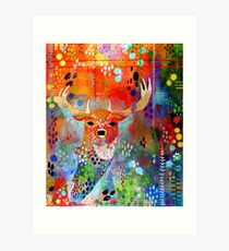 Deer in the Thicket Art Print