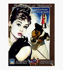 Jack Russell Terrier Art Canvas Print - Breakfast at Tiffany Movie Poster Photographic Print