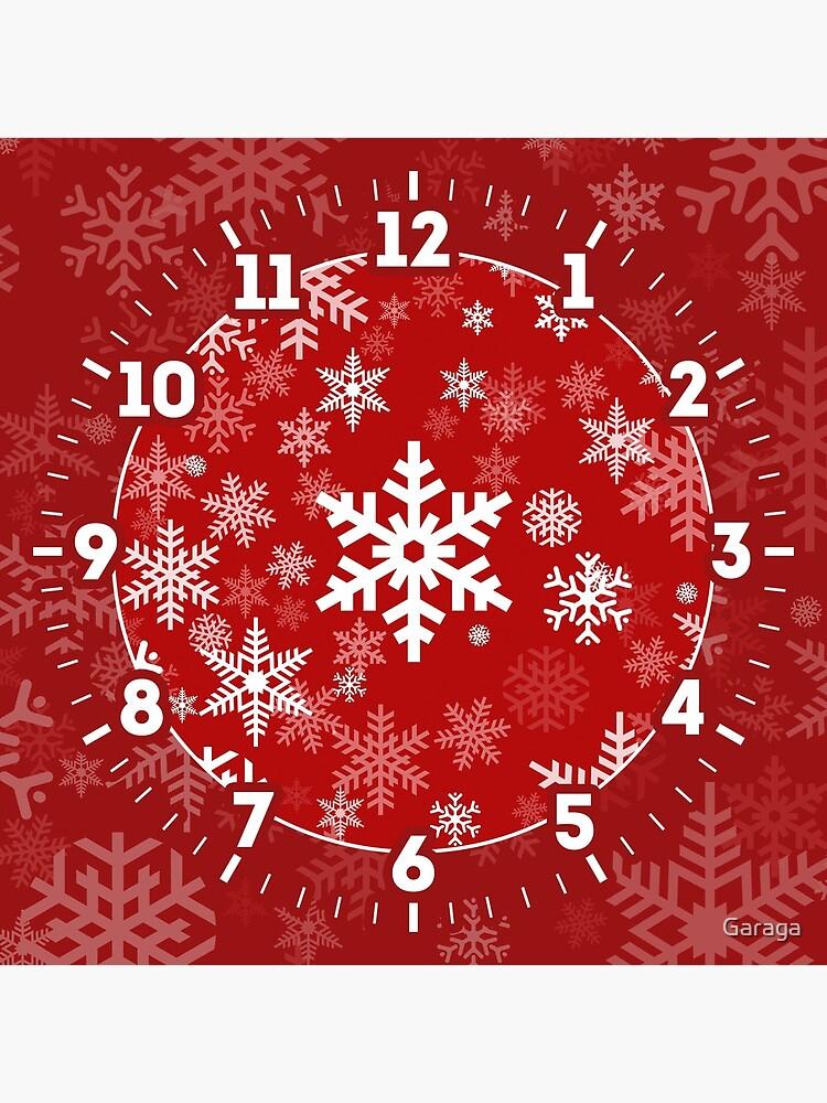 Snowflakes Pattern in Red by Garaga