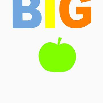 """ BIG apple ""  t-shirt by skyrunner"