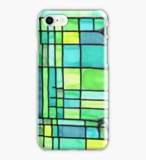 Green Frank Lloyd Wright Stained Glass iPhone Case/Skin