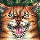 Warriors / Warrior Cats Tigerstar Drawing by moonphiredesign