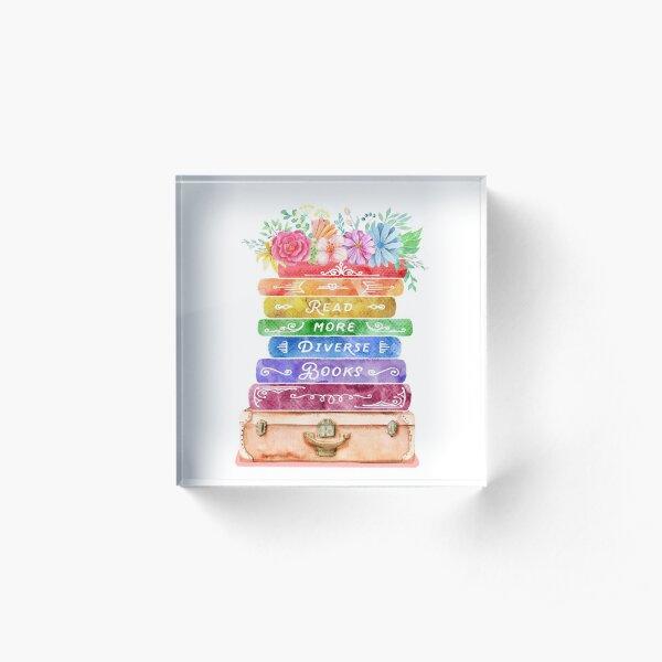 Diverse Books Acrylic Block