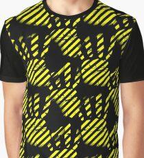 Palm clipart pattern, handprint, construction lines Graphic T-Shirt