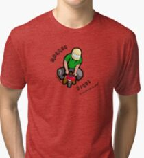 monkey bike Tri-blend T-Shirt