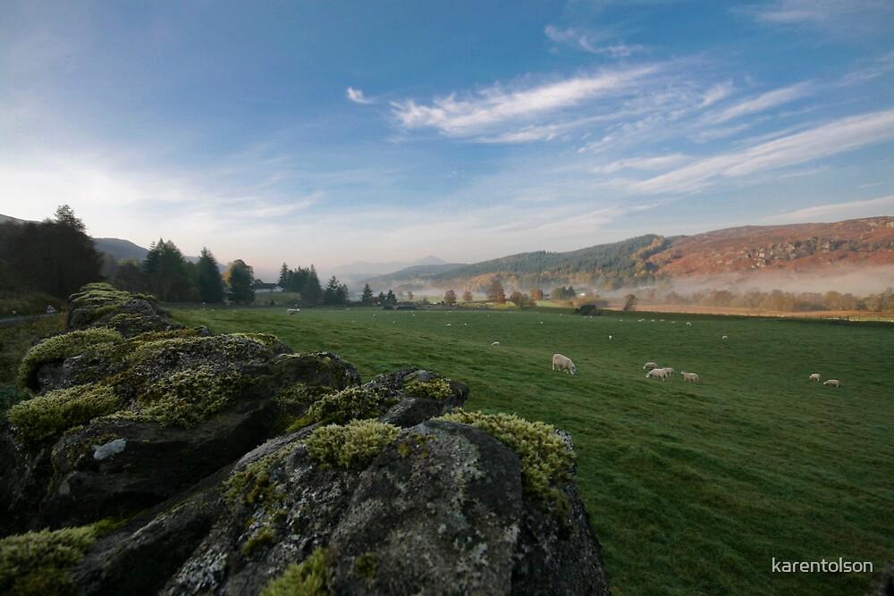 Highlands and Scotch Mist by karentolson