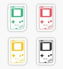 Minimal Gameboy DMG-01 (radiant red) Sticker