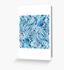 Frozen pattern Greeting Card