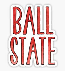 Ball State Watercolor Sticker