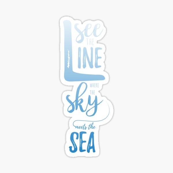 Sky & Sea Blue Sticker