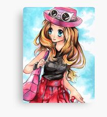 Pokemon Trainer Serena XY Drawing Canvas Print