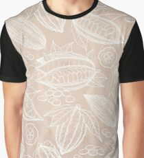 Graphic cocoa fruits on aged paper.  Graphic T-Shirt