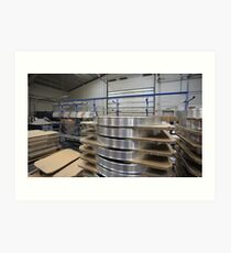 industrial assembly shop Art Print